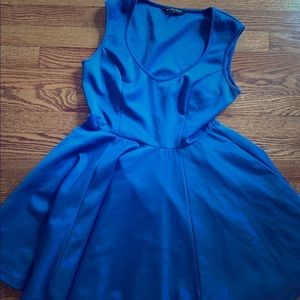 Black Halo Blue Fit n Flare Dress